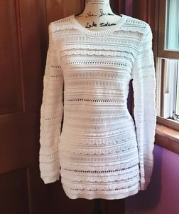 Banana republic white long sleeve sweater dress